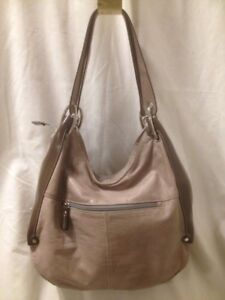 Fine Italian Leather Taupe Hobo Hand/Shoulder Bag by the Trend