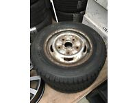 "Pair of ford transit 15"" steel wheels with brand new winter tyres 195/70R15c 104/102R"
