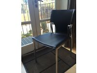 2 X Black Chairs - good condition