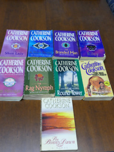 Lot of 9 Catherine Cookson Paperbacks, asking $8.00 OBO.