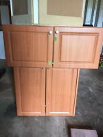 Complete kitchen cabinet top and bottom
