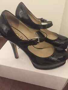 KORS by Michael Kors Iona Black Mary Jane Patent Leather Pumps