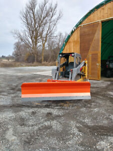power angle 8' snow blade with quick attach