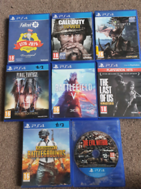 PS4 Games Each £8 Or 5 for £35 PS5 Games