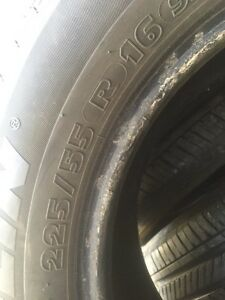4 Michelin pilot 225/55/16 all season 80% tread  Kitchener / Waterloo Kitchener Area image 3