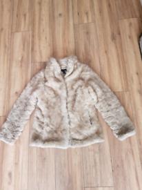 Lady's H&M Fluffy Fur Coat