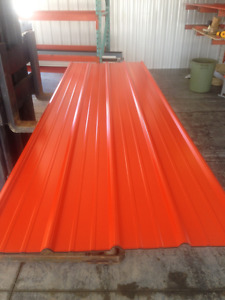 Bright Orange Steel Roofing or Siding