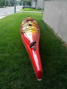 Sea Kayak with LOT of EXTRAS - FiberGlass