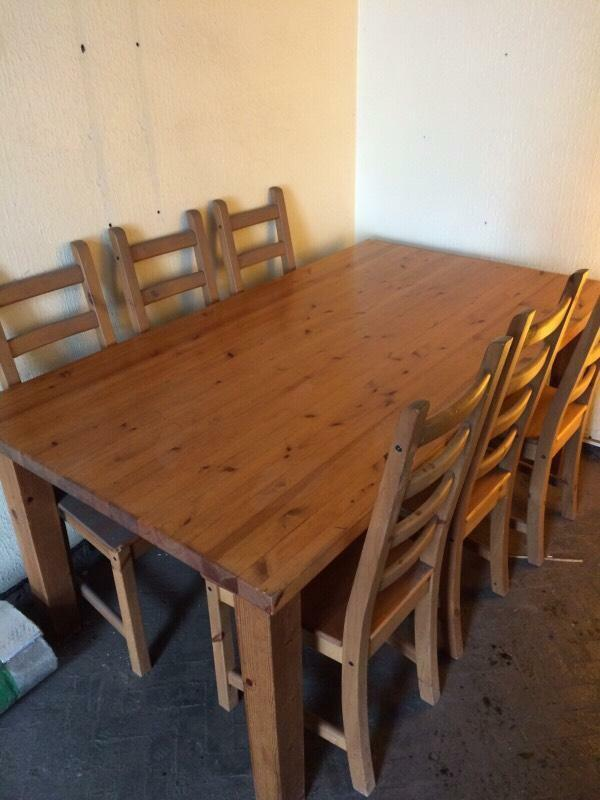 table and 6 chairs in heath cardiff gumtree