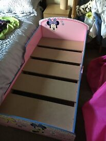 Toddler's Minnie Mouse bed frame