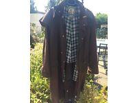 Oxford trench waxed jacket XXL