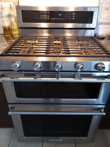 Kitchen aid double oven dual fuel range