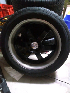 "Boss 22"" truck rims and tires"