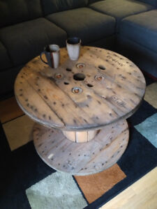 Rustic spool coffee table/ side tables