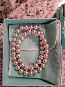 Authentic Tiffany Beads Silver Necklace