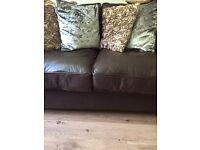 2x Italian Leather two seater sofas