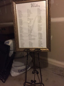 Wedding seating chart Antique frame and easel Cambridge Kitchener Area image 3