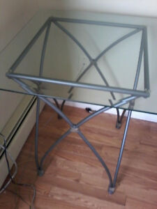 2 Glass Topped End Tables