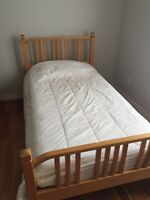 IKEA Wooden Bed and mattress