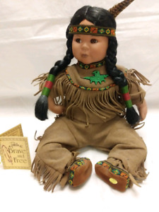 BRAVE AND FREE AMERICAN INDIAN NATIVE BABY DOLL