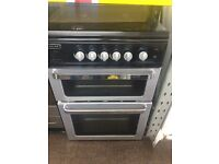 Black & silver leisure 60cm gas cooker grill & oven good condition with guarantee