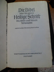 Leather-bound German Bible (1968) Kitchener / Waterloo Kitchener Area image 3