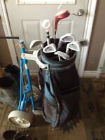 Left handed golf clubs set comes with bag and carrier