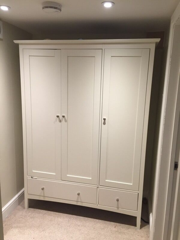 Marks spencer hastings triple wardrobe in ivory cream for Bedroom furniture marks and spencer