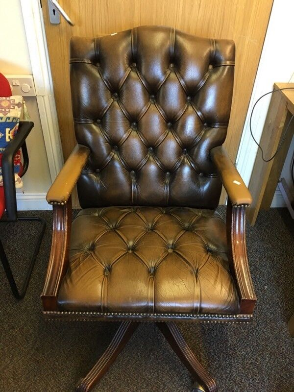 NOW SOLD Stunning chesterfield office chair