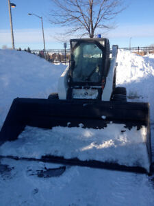 BOBCAT WITH SNOW BUCKET FOR RENT