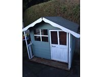 Outdoor wooden play house/ Wendy house great condition