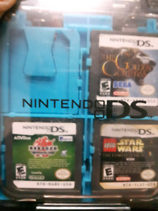 Ds games and carrying case