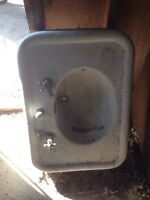 Cast iron shallow antique sink