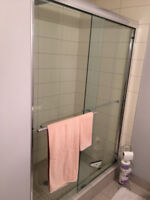 Shower door installation or fix; TUB-Shower and Shower Stall and