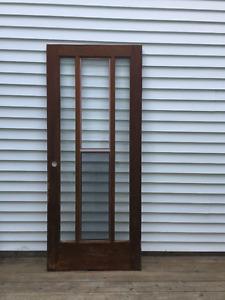 Exterior Cedar Storm Door