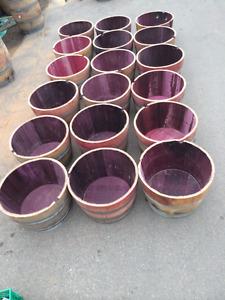 LOOK  >> 80 x California Oak Wine Planters. Only $100 each