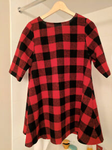 New 50% Wool Red and Black Dress nice for winter