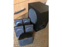 PC multimedia home theater speaker system