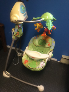 Fisherprice RainForest Swing and Craddle
