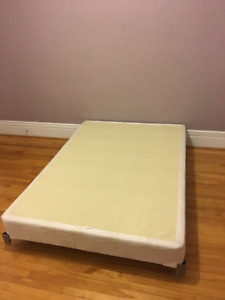 Queen size base and bed frame TO GIVE!!