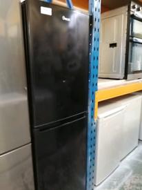 Swan Fridge freezer black 3 months warranty at Recyk Appliances