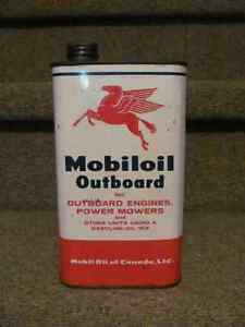 Vintage mobiloil outboard oil can