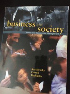 Business and Society -  Fist Canadian Edition