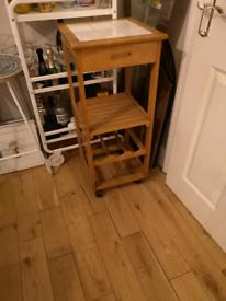 Vintage Retro Style Small size Butchers Block Wine Rack 1 Drawer Pine