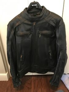 Mens Leather Motorcycle Riding Jacket