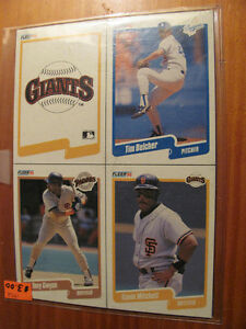 Fleer 90 baseball 4 card sheet