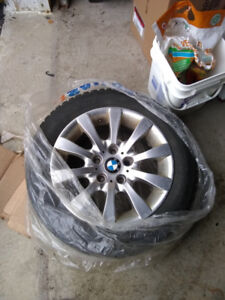 Winter tires with BMW rims for E46