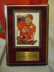 SERGEI FEDEROV DETROIT RED WINGS PLAQUE