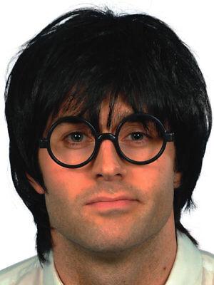 Zauberer Harry Potter Herren Fasching Perücke mit Brille Karneval Kostüm Zubehör (Harry Potter Kostüm Mit Brille)