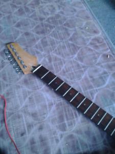 22 fret electric guitar neck